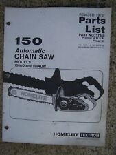 1979 Homelite 150 Automatic Chain Saw 150AO 150AOW Parts List MORE IN STORE  U