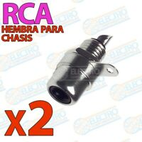 Conector RCA HEMBRA audio o video para chasis - NEGRO - Lote 2 unidades - Arduin