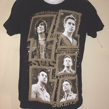 SLEEPING WITH SIRENS 2013 SMALL  t shirt EMO  ROCK OUT OF PRINT