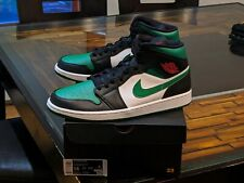 Air Jordan 1 Mid Green Toe BRAND NEW US 14 AUTHENTIC Nike Hot Boatfooters