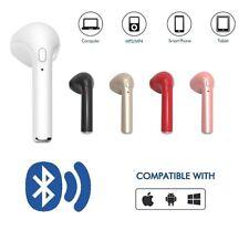 AURICOLARI BLUETOOTH CUFFIA WIRELESS MICROFONO per SMARTPHON SAMSUNG IPHONE AUTO