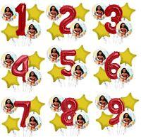 "Set of 5 Bouquet Moana Balloons 34"" Number Balloon"