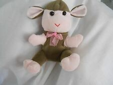 puli tony toy int Lamb Plush Sheep pink brown soft lovey baby 7""