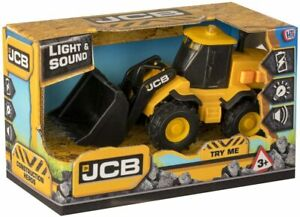 JCB Small LS Wheel Loader Light and Sound Encourages Learning Toy for Kids