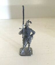 Conquistador or Landsknecht toy soldier.60 mm white metal figure