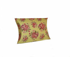 **NEW** CREAM PINK FLORAL PILLOW BOXES - 12 PACK MINI SMALL WHOLESALE CHRISTMAS