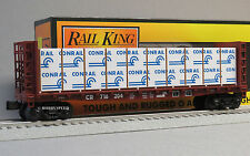 MTH RAIL KING CONRAIL BULKHEAD FLATCAR & LUMBER LOAD o gauge train 30-76613 NEW