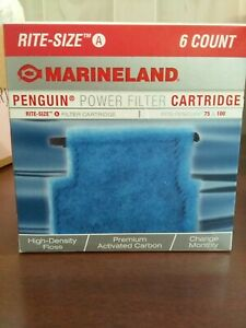 Marineland  Rite-Size A  Penguin Power Filter 75 & 100 Cartridge 6 ct Box