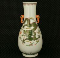 big old jingdezhen porcelain dragon phoenix statue vase table home decoration