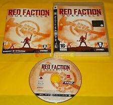 RED FACTION GUERRILLA Ps3 Versione Ufficiale Italiana 1ª Edizione ○○○○○ COMPLETO
