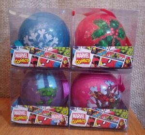 Marvel Comics Set Of 4 Christmas Xmas Baubles