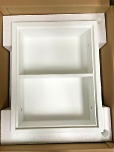 Imperfect Recessed Sloane White Wall Niche by Fox Hollow Furnishings (14x18)