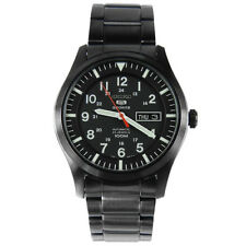 Seiko Automatic Gun Metal Stainless Steel Black Dial  Mens Watch SNZG17
