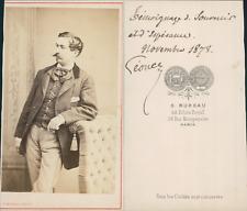Bureau, Paris, Homme nommé Léonce, circa 1873 Vintage albumen print CDV -  T