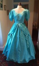 VINTAGE 1980's TURQUOISE VICTORIAN STYLE BRIDESMAID DRESS