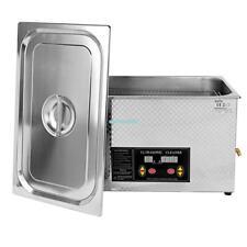20L machine de nettoyage à ultrasons nettoyeur à ultrason inox nettoyage 480W NF