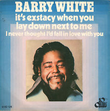 BARRY WHITE it's exstacy when you / I never thought I'd fall 45RPM 1977 Disco