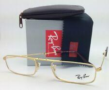 New FOLDING RAY-BAN Eyeglasses / readers RB 6262 2500 51-21 Arista Gold Frames