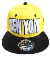 Adults Mens Ladies Baseball Cap New York NY State Snapback Retro Hip Hop Hat