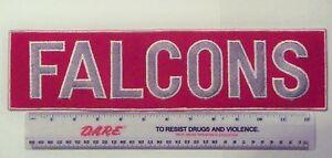 "Vintage 1980s Atlanta Falcons 14"" LARGE Jacket Patch Throwback (sew on)"