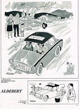 "PUBLICITE ADVERTISING 014   1962   DESSIN  ALDEBERT  "" le permis de conduire"""