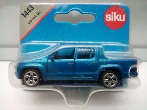 Siku #1443 / VW Amarok - Double Cab Pickup - Blue - Model Car