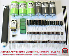 Studer A810 tape recorder ESSENTIAL capacitor & preset pot upgrade overhaul kit
