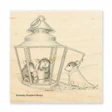 HOUSE MOUSE RUBBER STAMPS LANTERN WARMTH NEW wood STAMP