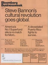 BLOOMBERG BUSINESSWEEK MAGAZINE OCTOBER 2 2017 STEVE BANNON'S CULTURAL REV