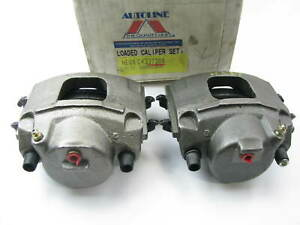 89-92 Ford Thunderbird, 90-92 Lincoln Continental Front Brake Caliper Set + Pads