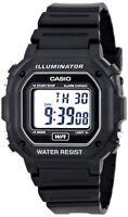 Casio F108WH-1A Men's Digital Black Resin Strap Watch