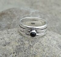 Black Onyx Solid 925 Sterling Silver Spinner Ring Statement Ring Size M439