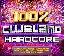 VARIOUS - 100% CLUBLAND HARDCORE NEW SEALED 4CD BOXSET