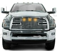 Big Horn 2+LED Chrome Package Grille+Shell for 10-18 Dodge RAM 2500+3500