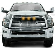 Big Horn 2+LED Chrome Package Grille+Shell for 10-18 Dodge RAM 2500+3500