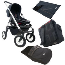 Cooper MINI Stroller Silver Pram Pushchair Buggy + Nursery Bag Footmuff Blanket