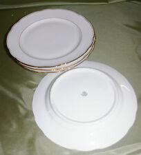 4x Bavaria Kronester Essteller, Teller mit Goldrand