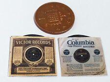 DOLLS HOUSE X 2 VICTORIAN  GRAMOPHONE  RECORDS CIRCA 1898 & 1902