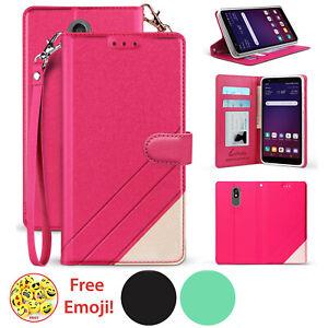 For LG ESCAPE PLUS/ K30/ ARISTO 4+ PU Leather Card Slot Wallet Flip Pouch Case