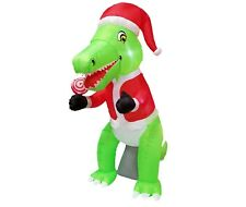 Christmas Air Blown LED Inflatable Yard Garden Art Decoration Dinosaur Lollipop