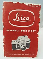"""Leica """"product directory"""" november 1955"""