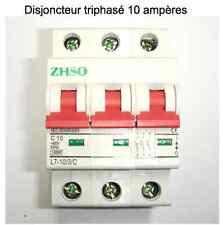 Disjoncteur coupe circuit triphasé modulaire 10 ampères neuf garantie 3 ans