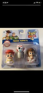 Disney Pixar Toy Story 4 Finger Puppets, Jessie, Forky, And Duke Caboom. RARE.