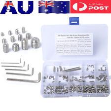 240Pcs Hex Socket Set Grub Screws Assortment Kit M3/M4/M5/M6/M8 w/ 5pcs Hex Keys