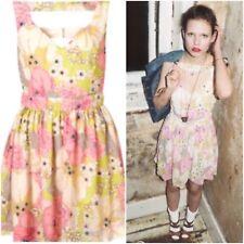 TOPSHOP £125 Dress Up Vintage Style Floral Embellished Sequin Cut-Out Dress 8/36