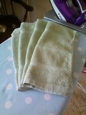 Facecloths X 4 Light Green