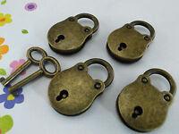(Lot of 4) Old Vintage Style Mini Padlocks With Keys