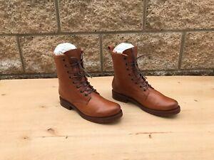 NWOT/B Frye Veronica Combat Boots , Whiskey Leather , Sz US 8.5 B