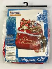 Deluxe Santa Claus Red Christmas Toy Bag Present Sack Costume Accessory. 60635