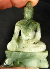 REAL JADE BUDDHA CARVING. rare natural untreated! THAILAND. 2.35 inches tall
